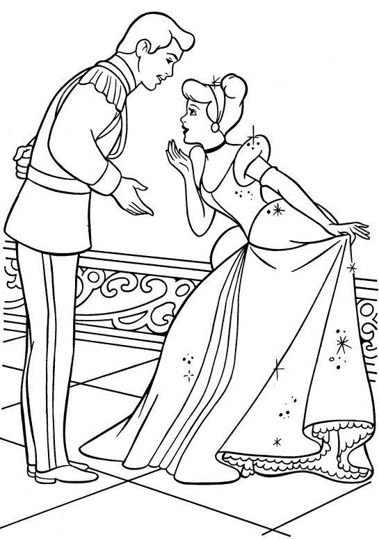 Coloriage et dessins gratuits Princesse Cendrillon vecteur à imprimer
