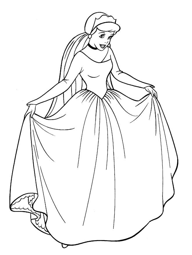 Coloriage et dessins gratuits Reine des neiges en ligne à imprimer