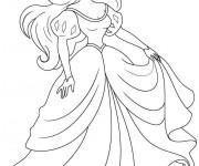 Coloriage Princesse Disney Ariel Gratuit à Imprimer Liste 20 à 40