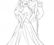 Coloriage Ariel et Le Beau Prince amoureux