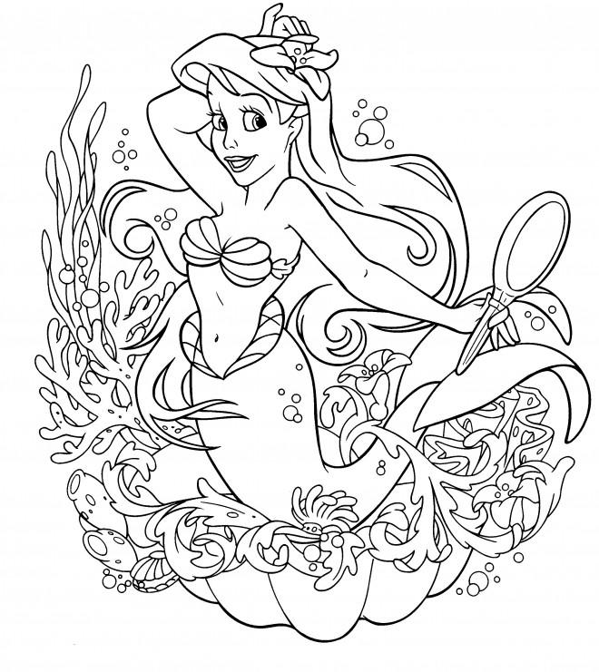 Coloriage Ariel La Petite Sirène Dessin Gratuit à Imprimer