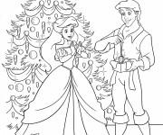 Coloriage Cadeau d'Eric pour Princesse Ariel