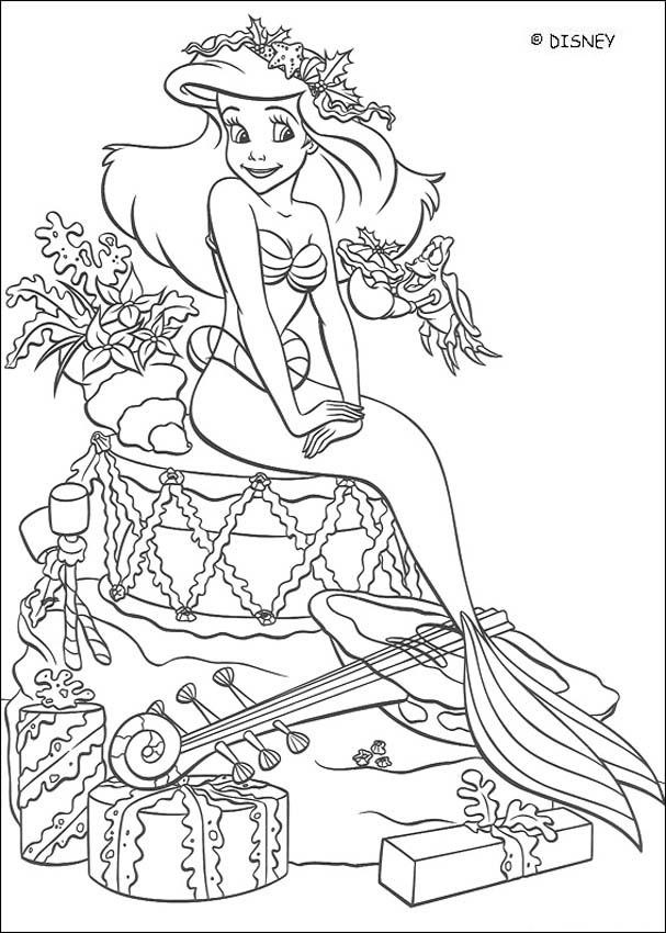 Coloriage Disney Ariel La Princesse De Mer Dessin Gratuit A Imprimer