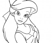Coloriage La Petite Ariel adorable