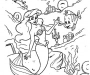 Coloriage La Sirène Princesse à télécharger