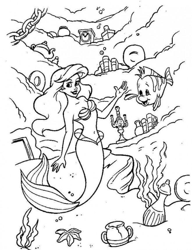 Coloriage et dessins gratuits La Sirène Princesse à télécharger à imprimer