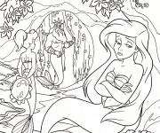 Coloriage et dessins gratuit Princesse Ariel est triste à imprimer