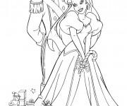 Coloriage Princesse  Ariel et Eric En Ligne