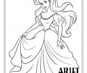 Coloriage Princesse Ariel pour Fille