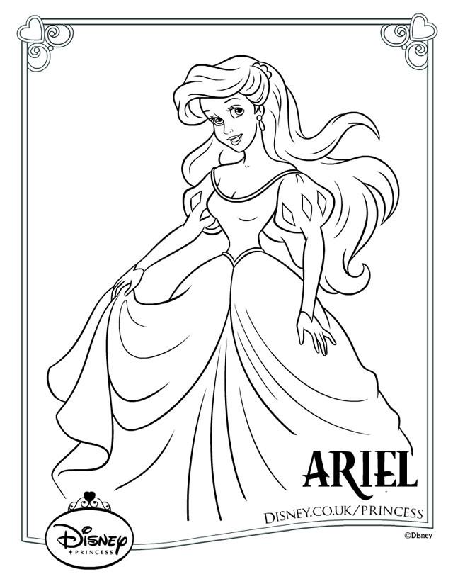 Coloriage Fille A Imprimer Princesse.Coloriage Princesse Ariel Pour Fille Dessin Gratuit A Imprimer