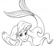 Coloriage Princesse Ariel stylisé