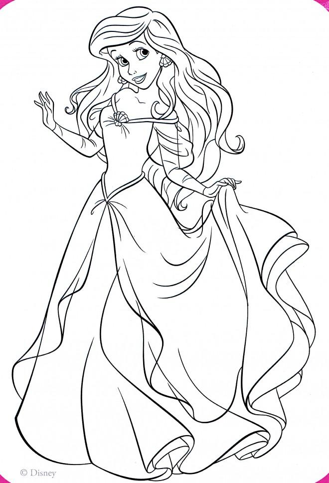 Coloriage Princesse Disney Ariel 58 dessin gratuit à imprimer