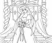 Coloriage Princesse Disney Ariel  merveilleuse