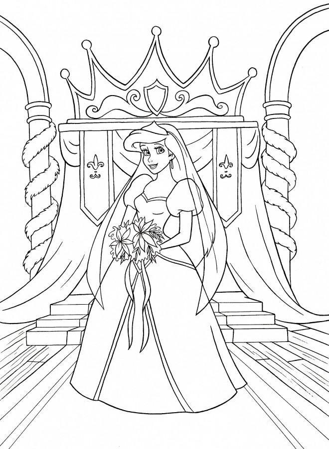 Coloriage Princesse Disney Ariel merveilleuse dessin gratuit à imprimer