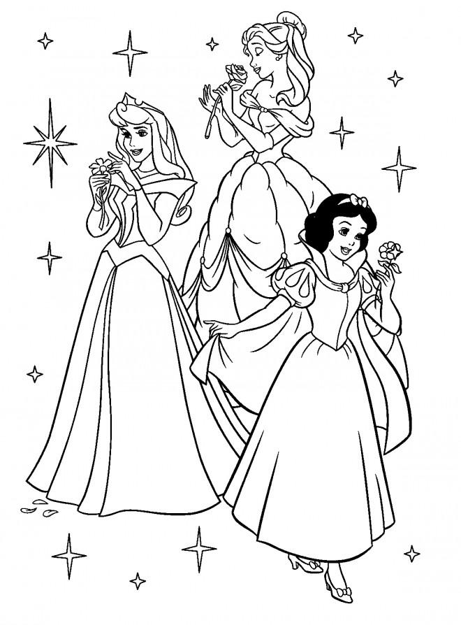 Coloriage Princesses Disney A Colorier Dessin Gratuit A Imprimer