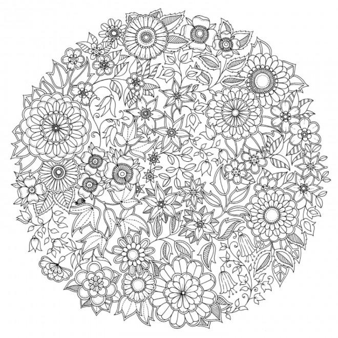 Coloriage et dessins gratuits Psychédélique Fleurs de Printemps à imprimer