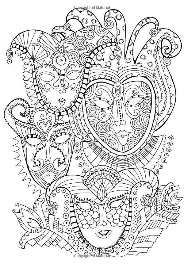 Coloriage et dessins gratuits Psychédélique Visages à imprimer