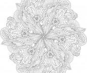 Coloriage et dessins gratuit Fleurs Anti-Stress à imprimer