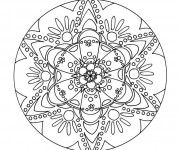 Coloriage et dessins gratuit Mandala Fleurs 2 à imprimer