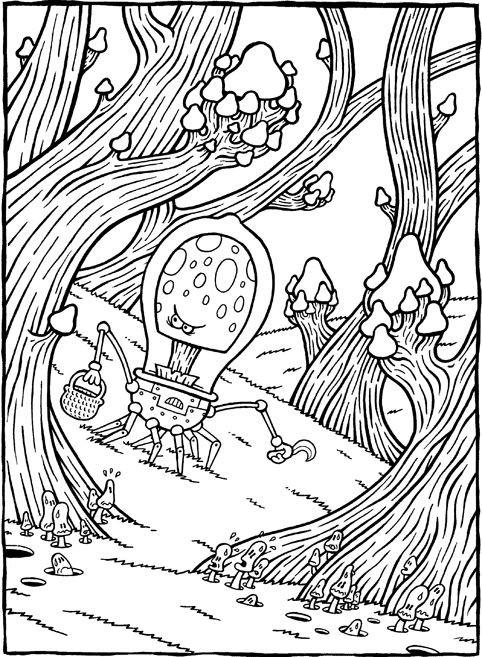 Coloriage et dessins gratuits Psychédélique Alien à imprimer