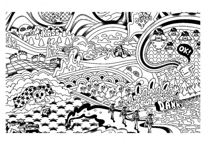 Coloriage et dessins gratuits Psychédélique américain à imprimer