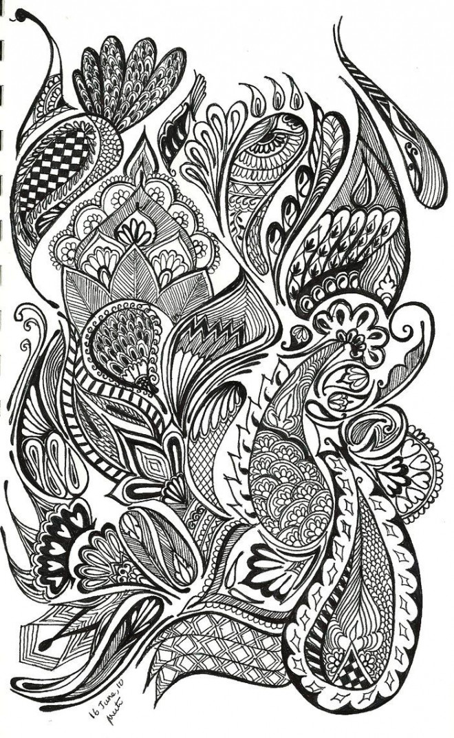 Coloriage et dessins gratuits Psychédélique  au crayon à imprimer