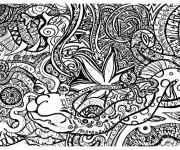 Coloriage et dessins gratuit Psychédélique  Difficile à imprimer