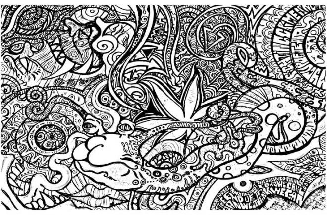 Coloriage et dessins gratuits Psychédélique  Difficile à imprimer