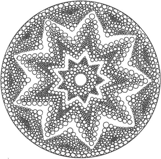 Coloriage et dessins gratuits Psychédélique étoile à imprimer
