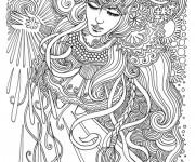 Coloriage Psychédélique Femme