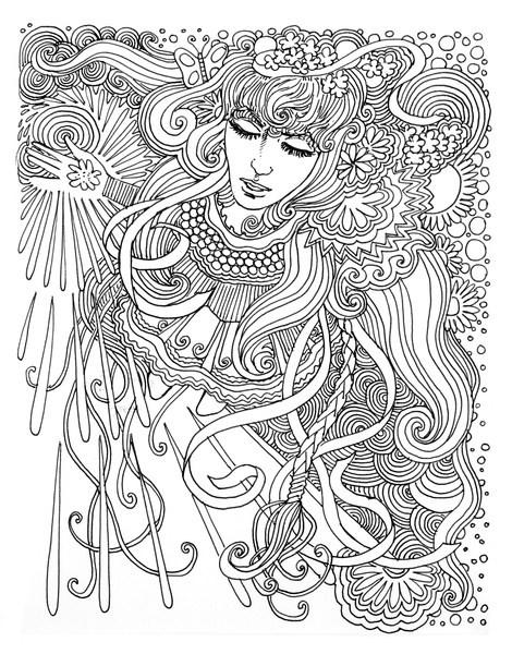 Coloriage et dessins gratuits Psychédélique Femme à imprimer