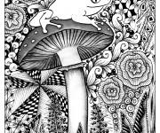 Coloriage et dessins gratuit Psychédélique Grenouille à imprimer