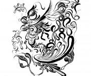 Coloriage Psychédélique noir et blanc