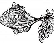 Coloriage et dessins gratuit Psychédélique  Poisson à imprimer