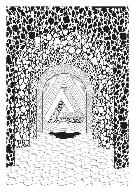 Coloriage et dessins gratuits Psychédélique  Portes à imprimer