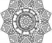 Coloriage et dessins gratuit Psychédélique  pour adulte à imprimer