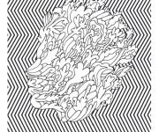 Coloriage et dessins gratuit Psychédélique Tête à imprimer