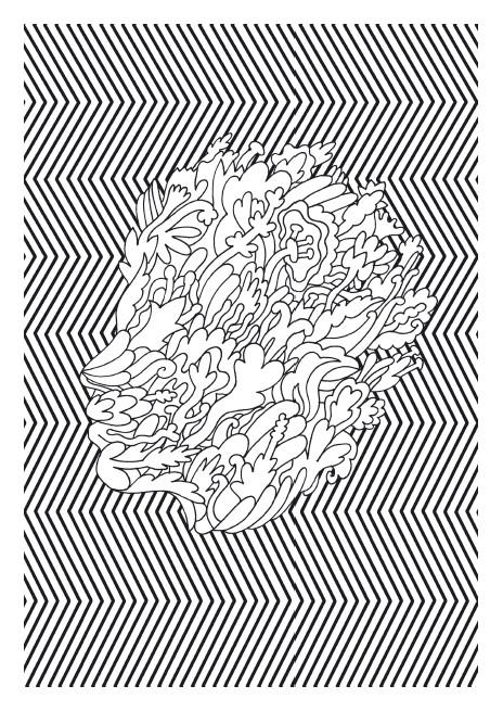 Coloriage et dessins gratuits Psychédélique Tête à imprimer
