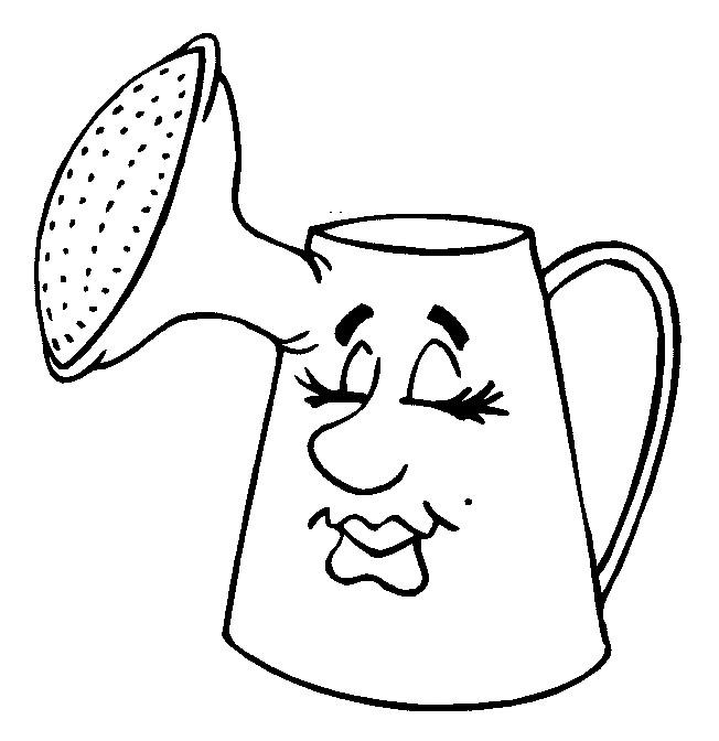 Coloriage et dessins gratuits arrosoir dormant humoristique à imprimer