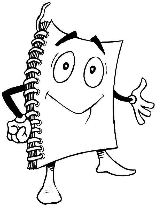 Coloriage et dessins gratuits Bloc Note  magique Rigolo à imprimer