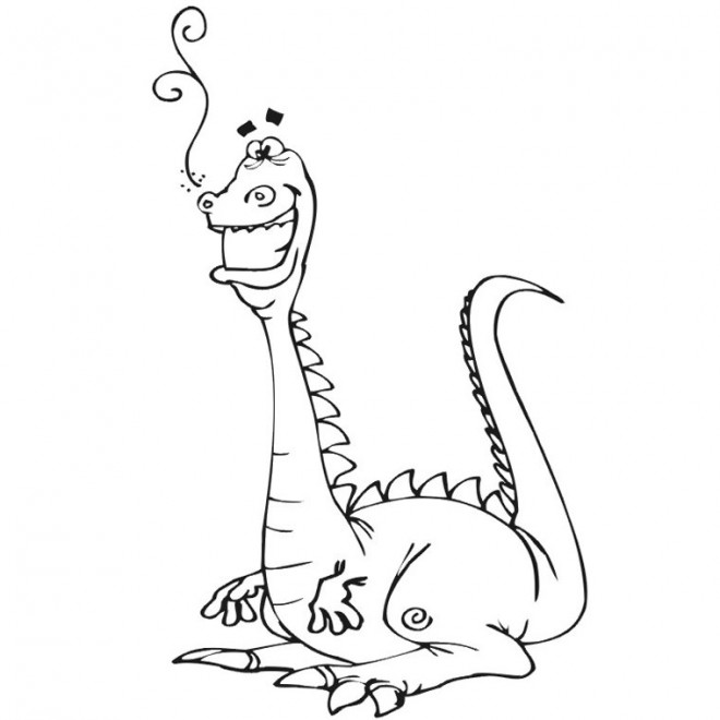 Coloriage dinosaure qui rigole dessin gratuit imprimer - Dinosaure rigolo ...