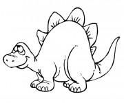 Coloriage et dessins gratuit Dinosaure Rigolo à imprimer