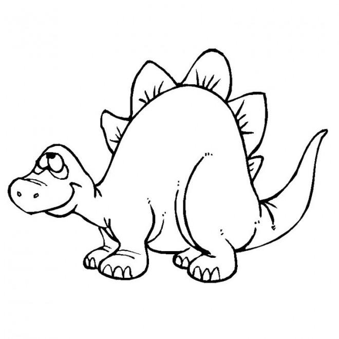 Coloriage dinosaure rigolo dessin gratuit imprimer - Coloriage de dinosaure a imprimer gratuit ...
