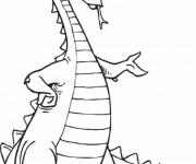 Coloriage et dessins gratuit Dragon avec des crones à imprimer