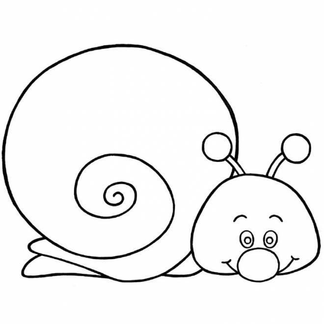 Coloriage et dessins gratuits Escargot drôle et facile à imprimer