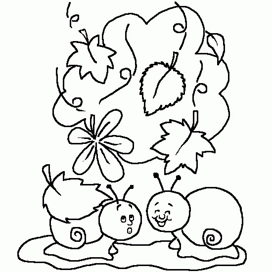 Coloriage et dessins gratuits Escargots rigolos maternelle à imprimer