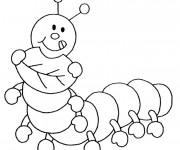 Coloriage et dessins gratuit Insecte Rigolo à imprimer