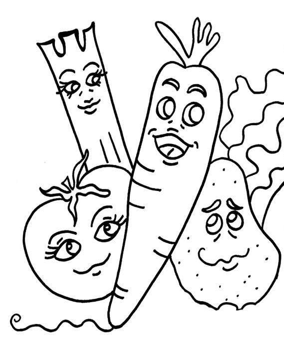 Coloriage les l gumes dr le dessin gratuit imprimer - Coloriage drole a imprimer ...