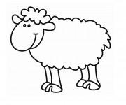 Coloriage Mouton Rigolo en Ligne