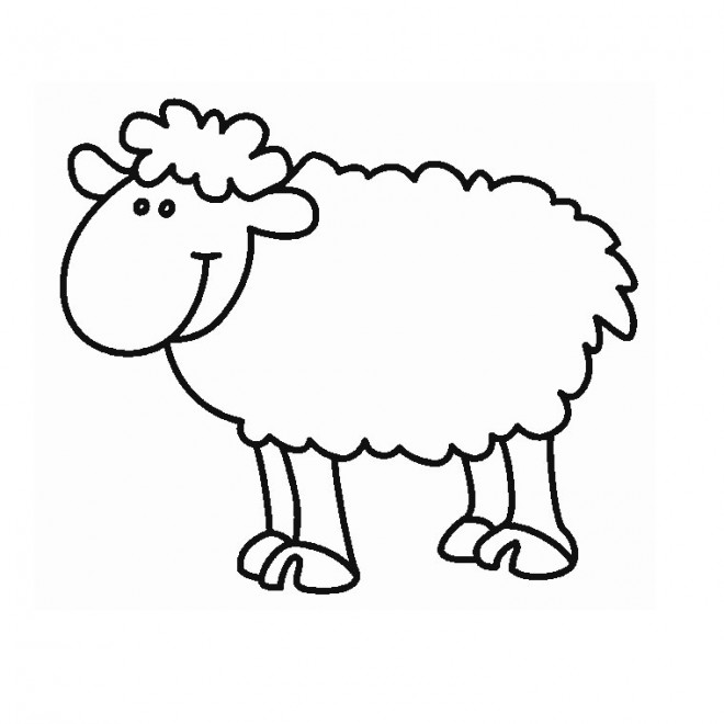Coloriage et dessins gratuits Mouton Rigolo en Ligne à imprimer